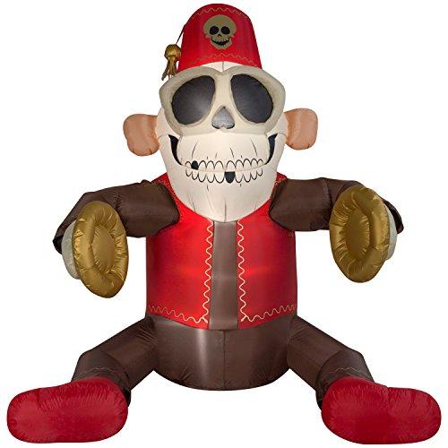 Gemmy Halloween Airblown aufblasbare 6ft. Animierte Becken Monkey -