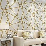 TONGSS Metallic Geometric Tapete Für Wände Rollen Modernes Design Wand Papier Home Decor Schlafzimmer Wohnzimmer Flur Wandverkleidungen, 10 Mt