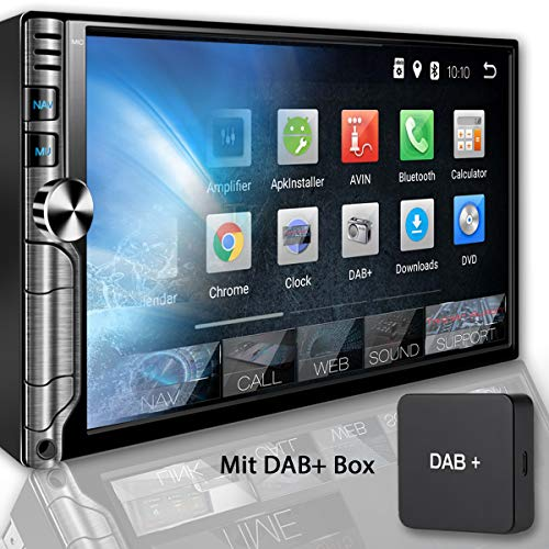 Tristan Auron BT2D7019A Autoradio + DAB+ Box, Android 8.1, 7'' Touchscreen Bildschirm, GPS Navi, Bluetooth Freisprecheinrichtung, Quad Core, MirrorLink, USB/SD, OBD 2, DAB, 2 DIN