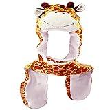 Honeystore Unisex Herbst Winter Warm Plüsch Tier Ohrenschützer Hüte Mützen Weihnachten Halloween Kostüm Geschenk Giraffe