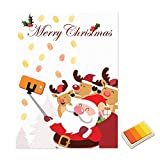 nbvmngjhjlkjl Kawaii Weihnachten Weihnachtsmann Gästebuch Personalisierte Party Geschenke Fingerprint Malerei DIY Partydekorationen Mit Stempelkissen - Gelb