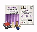 Mini Stempel Set 3er Pack / 10 verschiedene Motiv Mixe zur Auswahl - Mädchentraum