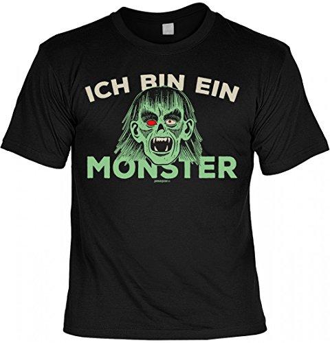 sex T-Shirt Halloween - Ich Bin Ein Monster - Vampir - Geschenk-Idee zur gruseligsten Zeit Des Jahres - Farbe Schwarz, Größe:S (Vampir Outfits Ideen)