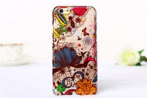 Coque iPhone 6 Plus/6S Plus, iNenk® Raindrop Motif Téléphone Mobile Shell Housse de protection Peinture dur transparent PC Housse Rétro étui de téléphone Pretty Fashion-modèle 8 motif 7