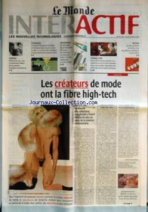 MONDE INTERACTIF (LE) du 18/10/2000 - MICHEL GIRAN VEUT CREER UN PORTAIL POUR FEDERER LES MOUVEMENTS ECOLOGISTES FRANCOPHONES - TECHNIQUES - UN LOGICIEL FRANžáAIS PART A LA PECHE D'INFORMATIONS DANS TOUS LES RECOINS DU WEB - ENTREPRISES - LE NEERLANDAIS ROYAL AHOLD TENTE DE TROUVER AUX ETATS-UNIS LA RECETTEE POUR MARIER COMMERCE TRADITIONNEL ET VENTE EN LIGNE - CYBERCULTURE - AVEC LE DVD ET LES JEUX DERNIER CRI, LA QUALITE DU SON SUR LE MICRO-ORDINATEUR DEVIENT PRIMORDIALE - METIERS - LES STA par Collectif