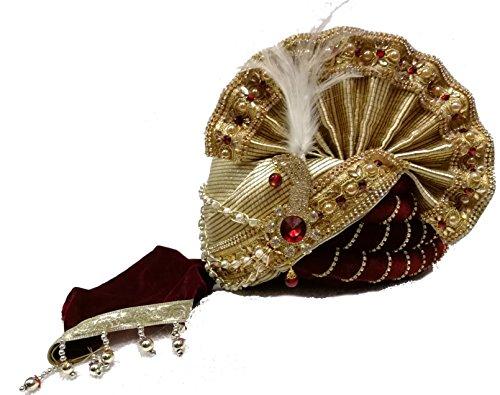ALFA Royal Wedding Heavy Safa Turban Pagdi for men Dulha Marriage Pagdi...