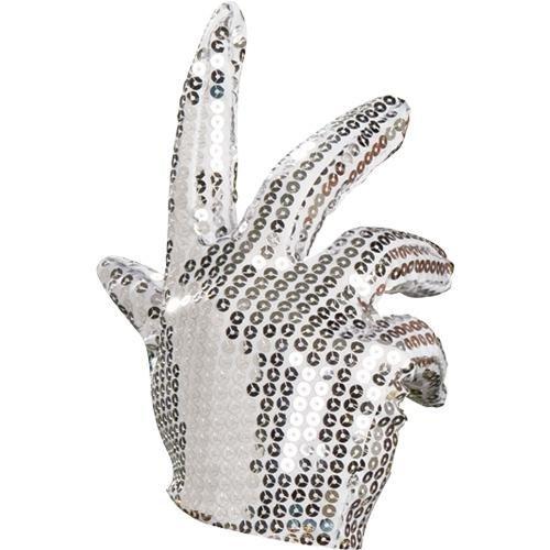 Original Lizenz Michael Jackson silber Handschuh Jacko silberner (Halloween Michael Jackson Kostüme)