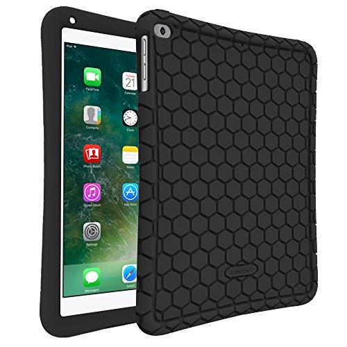 Fintie iPad 9.7 Zoll 2018 2017 / iPad Air 2 / iPad Air Hülle - [Bienenstock Serie] Leichte Rutschfeste Stoßfeste Silikon Schutzhülle Tasche Case Cover für Apple iPad 9,7'' 2018 / 2017 Neue Modell, iPad Air 1/2, Schwarz (Ipad Case Silikon)