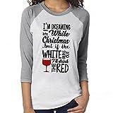 TWIFER Damen Frohe Weihnachten Pullover Mode Brief Print Langarm Oansatz Beiläufige Bluse