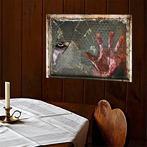 Snatchcz adesivi murali 3d halloween horror sangue mano occhio decorazione della casa rimovibile carta da parati (45 cm * 60 cm, w * l)