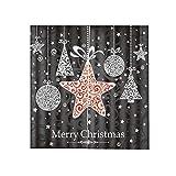 Augneveres Weihnachts-Vorhänge, Weihnachts-Meteor-Dusch-Dekorativer Vorhang 3D-Druck Wasserdichter Vorhang für Wohnzimmer, Esszimmer, Schlafzimmer, 170 * 200