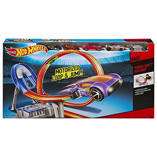 Mattel Hot Wheels Power Shift Raceway Motorized Loop amp; Jump - 5 CARS INCLUDED