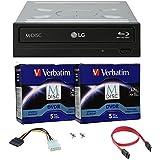 LG Blu-ray 14X M-Disc CD DVD BD BDXL Bluray-Brenner Laufwerk mit freiem 10pk Mdisc DVD + Kabel und Befestigungsschrauben WH14NS40