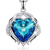 ATMOKO Medusas en Forma de Corazón Colgante Collar con Cristales de Swarovski, Joyería de Moda para Mujer, Navidad y Cumpleaños …