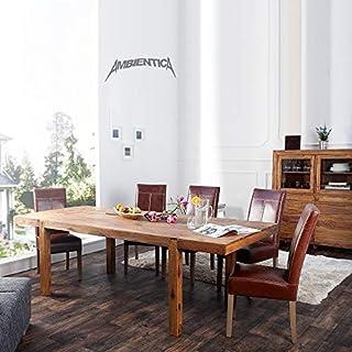 ambientica Esstisch Elegance inkl. Erweiterungen 160-240cm Indischer Palisander (Sheesham/Shisham) Poliert & Lackiert - Designermöbel