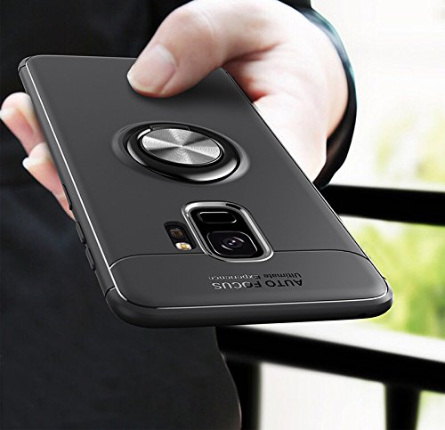 Amozo 360 Degree Protection Sleek Rubberized Beautiful Ring Stand BackCover for Samsung S9