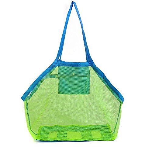Bolsa de malla Vi.yo de arena grande, ideal para guardar juguetes infantiles, juguetes, bolsas de playa u otros artículos de playa, azul