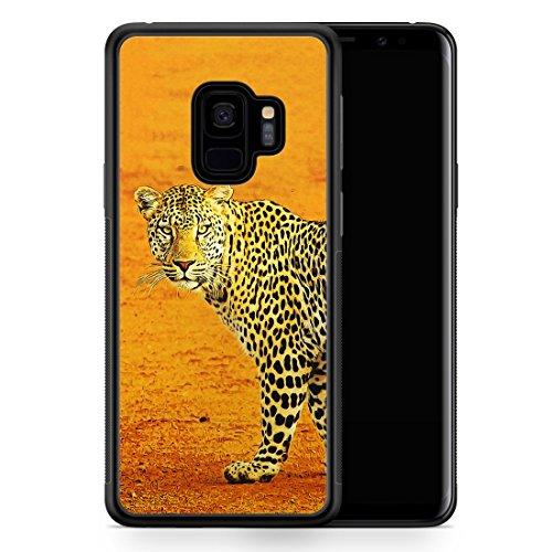 Silikon Hülle für Samsung Galaxy S9 - Leopard - Motiv Design Tiere Schön - Handyhülle Schutzhülle Cover Case Schale Leopard Cover