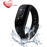 Aikwoo Fitness Tracker, Heart Rate Monitor Fitness Tracker, Smart Bracelet Activity Wearable Waterproof IP67 Tracker Bluetooth Pedometer with Sleep Monitor for Kids Women and Men