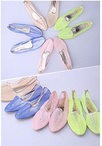 Amarelo Bege Azul Dança Bailarinas De Lingerie Verão Transparente Único Sapatos De Sapatos Macio Gaorui Ballet wF7UaqO
