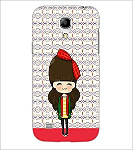 PrintDhaba Cute Doll D-5873 Back Case Cover for SAMSUNG GALAXY S4 MINI (Multi-Coloured)