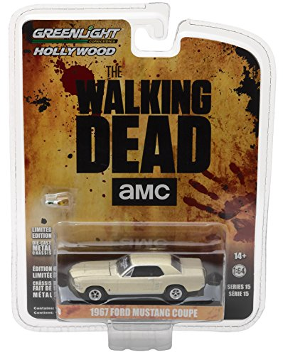 Greenlight 1: 64 Hollywood-The Walking Dead (2010-current TV Series) -1967 Ford Mustang Coupe Sophia Auto con Accessori (44750-e) Die-Cast Veicolo