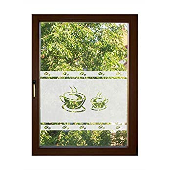 Sichtschutz Folie Fenster Sichtschutzfolie Fensterfolie Glasdekor Sichtschutzfolie blickdicht wasserfest selbstklebende Folie egdt141 / 54cm hoch