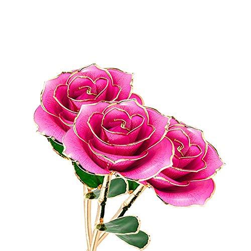 Fearless Come Vergoldete Rose Geschenk Jahrestag Geschenk für Sie,Valentinstag/Hochzeitstag/Geburtstag Geschenk für...