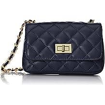 Chicca Tutto Moda CTM bolso de mujer pequeño prespunteado, bolso de mano clàsico italiano.