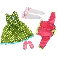 Kleidung für Puppe Lottie LT060 Flower Power Outfit Set - Puppen Zubehör Kleidung Puppenhaus Spieleset - ab 3 Jahren