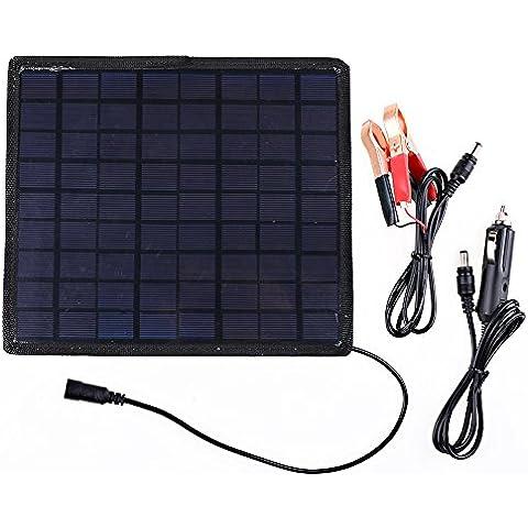 Solare Carica batterie 12V Caricabatteria Portatile Batteria e pannello solare ideale per auto, caravan, barche, Tende e maitian