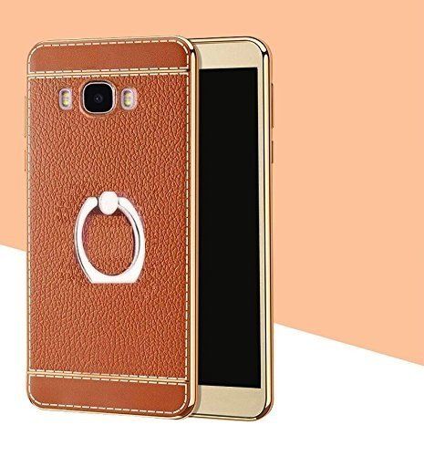 O4U Mobile Leather Back Cover With Trending And Stylish Ring Holder For Samsung Galaxy J2 Ace  available at amazon for Rs.199