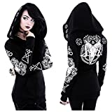Search : Restyle Occult RAM Skull Pentacle Nugoth Punk Goth Ritual Witchcraft Hoodie Top