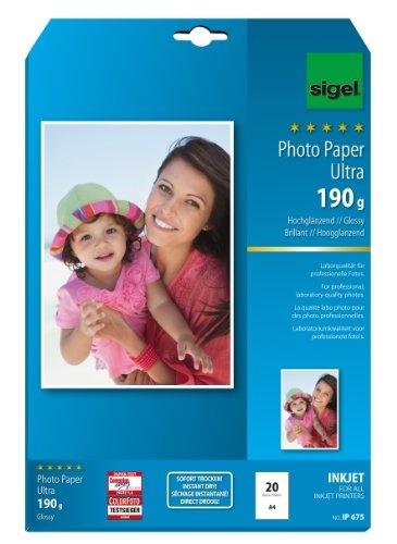 sigel-ip675-inkjet-fotopapier-ultra-a4-20-blatt-hochglanzend-extrem-lichtbestandig-190-g