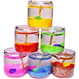 Satyamani Festive Handicraft Glass Gel Candles (Set Of 6 PCS)