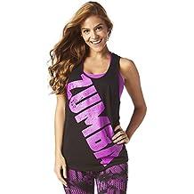 Zumba Fitness Zumba Burn It Up Loose Reservorio Mujer Tops, todo el año, mujer, color Bold Black, tamaño extra-small