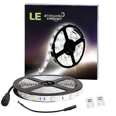 LE 5M LED Streifen 150er 5050 LEDs, LED Lichtband, kaltweiß 6000 Kelvin, 12V Flexibel, ultralhell, nicht wasserdicht, LED Band