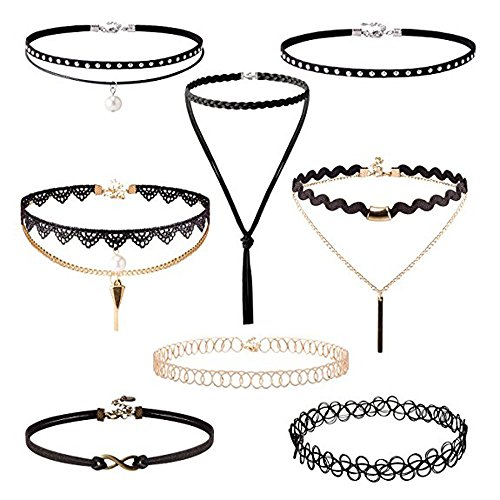 irona-8-pezzi-choker-tattoo-pizzo-necklace-collane-boho-pizzo-collare-elasticizzata