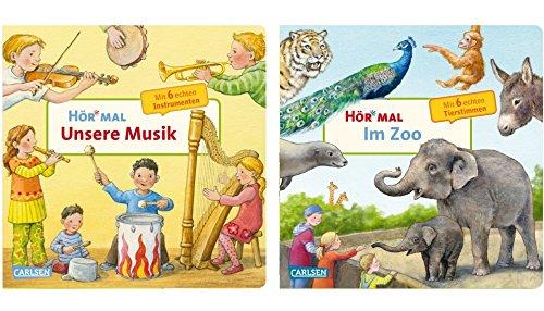 Carlsen Verlag GmbH Hör Veces: Nuestra Música + Hör Veces: en el Zoo (2x Cartón Bilderbuch en Juego)