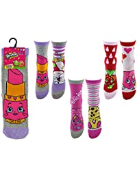 34ac1d58e45 (6 Pairs) Girls Novelty Cartoon Shopkins Socks