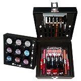 Gloss ! Make up & accessoires - L0056-Noir - Mallette de Maquillage - 34 Pièces de Cosmétiques, Coffret Cadeau-Coffret Maquillage