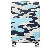 Bestja Elastisch Kofferhülle Kofferschutzhülle Gepäck Cover Reisekoffer Hülle Koffer Schutzhülle Luggage Cover mit Reißverschluss (S, Camouflage 1)