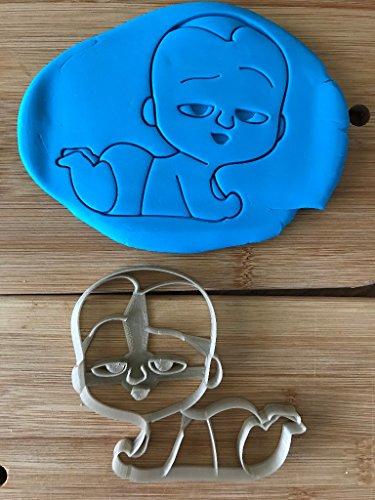 Kekstempel/ Ausstechform boss baby versch. Logos aus biolog. PLA ca.8cm (boss baby ganz)