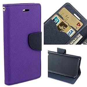 Sparkling Trends™ Fancy Diary Wallet Flip Cover Case for HTC Desire 826 Purple