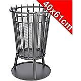 Metal Garden Fire Pit Basket BBQ Patio Heater Log Wood Charcoal Burner Brazier