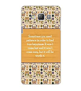 SAMSUNG GALAXY A7 QUOTE Back Cover by PRINTSWAG