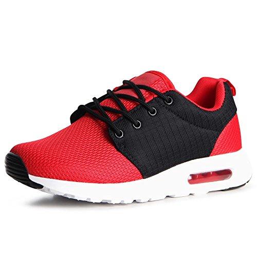 topschuhe24, Sneaker donna Nero/Rosso