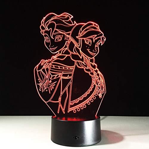 Nacht Light Optische Täuschungslampe Gefrorene Tischlampe 7 Farbwechsel-tischlampe 3d Lampe Neuheit Führt Nachtlicht Zu Bleilampe Tropfen