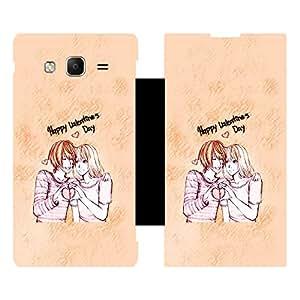 Skintice Designer Flip Cover with Vinyl wrap-around for Samsung Tizen Z3 , Design - Valentine day