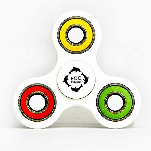EDC Fidgeter Fidget Spinner (Multicolor, Blanco)